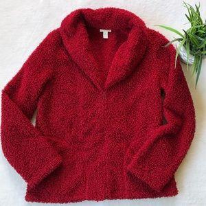 J. Jill Red Sherpa Jacket